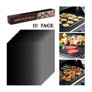 BBQ Grillmatte Teflon Grillmatten 4er Set 300°C Antihaftbeschichtung und Einfac