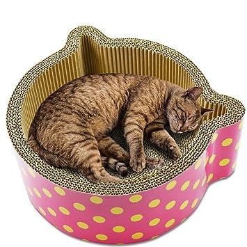 Teecuu - Rascador para Gatos de cartón Corrugado para rascar ...