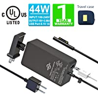Surface Pro Surface Laptop Charger [UL Certified Updated Version] 44W 15V 2.58A Power Supply Compatible Microsoft…