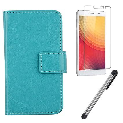 Amazon.com: Gukas Design 3in1 Set Blue Color PU Leather Case ...