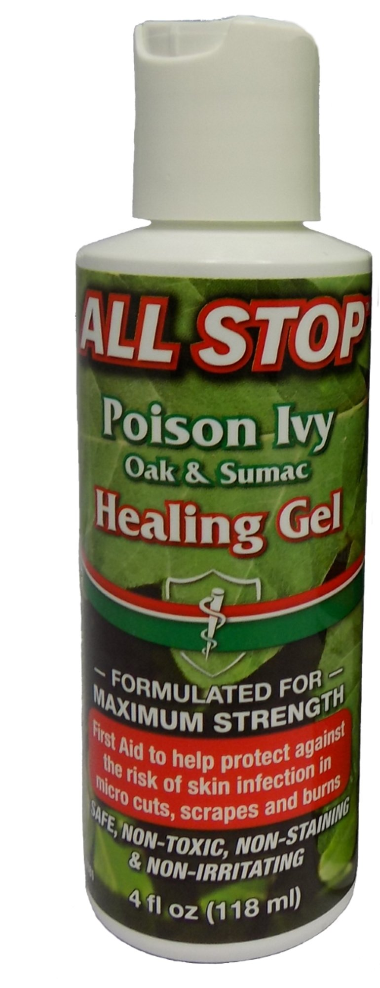Poison Ivy, Poison Oak & Poison Sumac Healing Gel, Itch Cream - 4oz