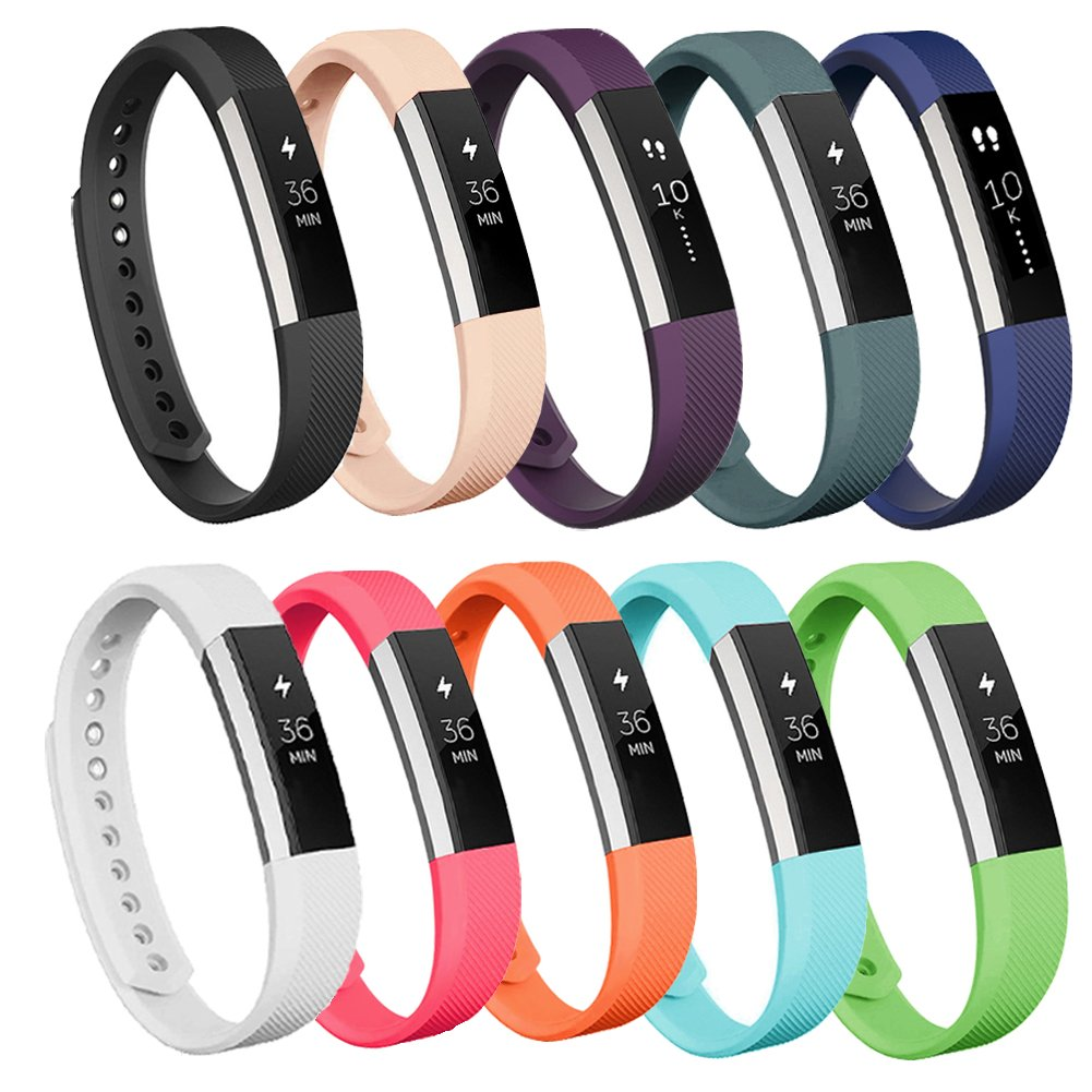 fitbit alta fitness tracker silver teal small us version health personal care. Black Bedroom Furniture Sets. Home Design Ideas