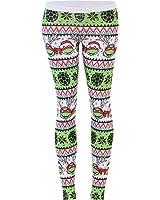Teenage Mutant Ninja Turtles Ugly Christmas Pattern White Leggings