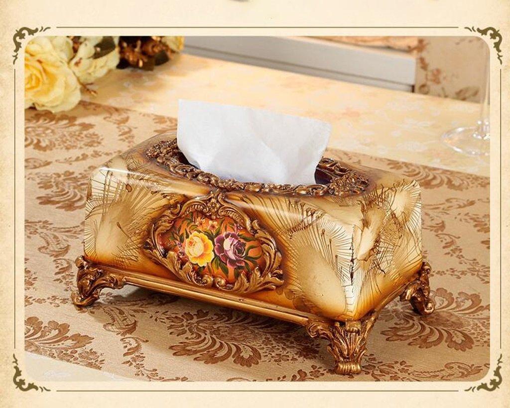 Hyun times European high-grade resin carved tissue box napkin box fashion creative home decor retro luxury pumping tray by Hyun times tissue box (Image #3)