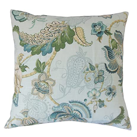 the pillow collection lieve floral pillow 20 by 20 - The Pillow Collection