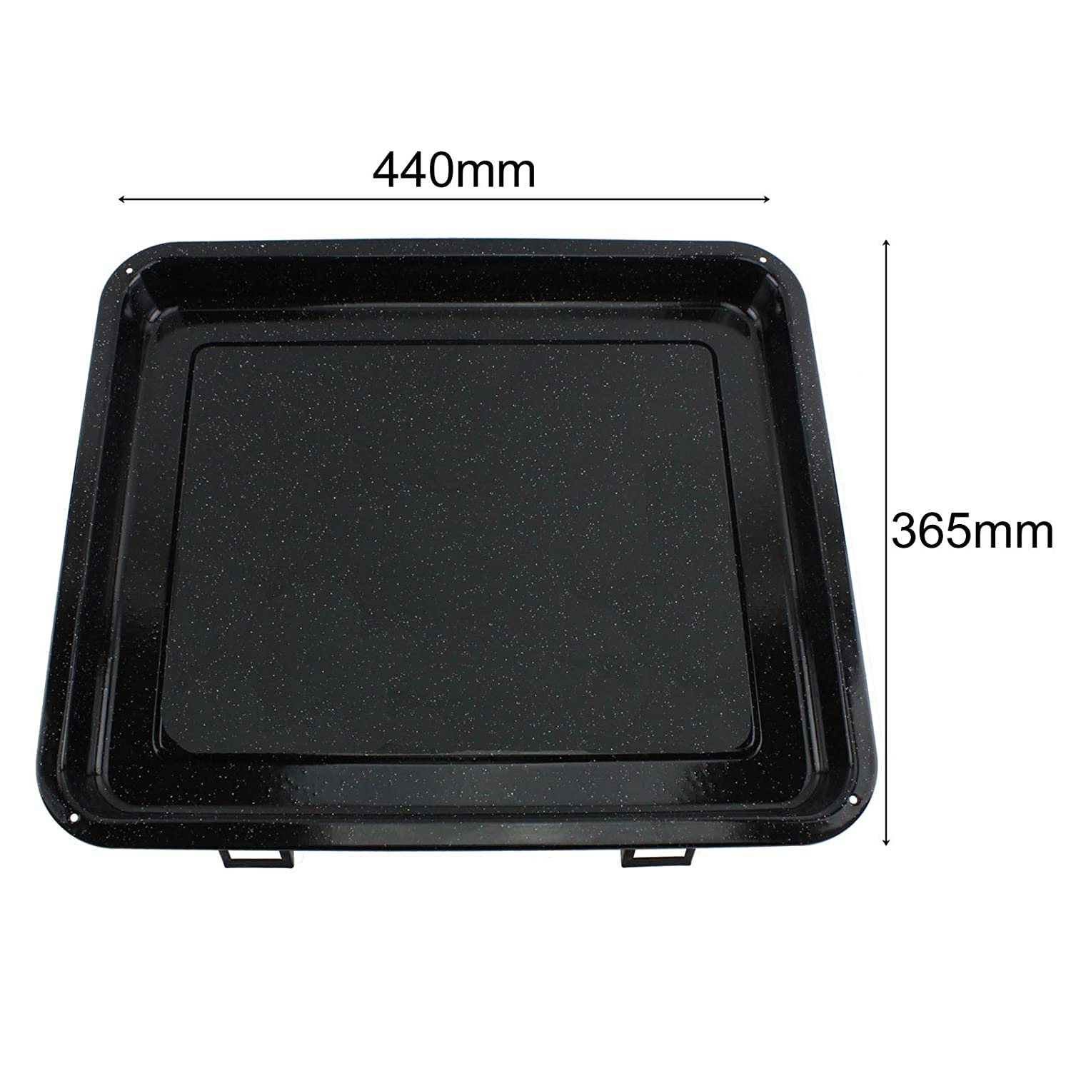 Rack /& Dual Detachable Handles for Whirlpool Oven Cookers SPARES2GO Extra Large Grill Pan