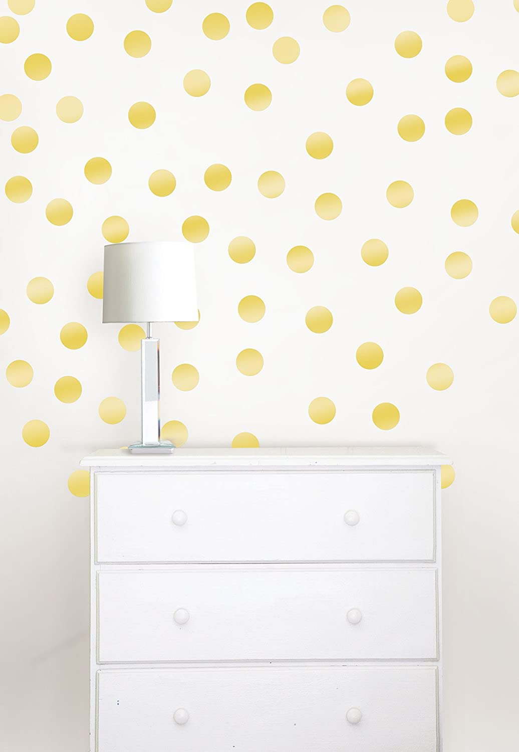 Wall Pops WPD1806 Confetti Dots Wall Decal, Gold