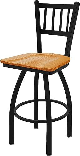 Holland Bar Stool Co. 81025BWMedOak 810 Contessa Counter Stool, 25 Seat Height, Medium Oak