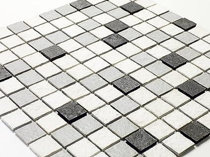 100 x 50//5 x 2 U-tile 704-L-5 Mixte Pierre Et Blanc