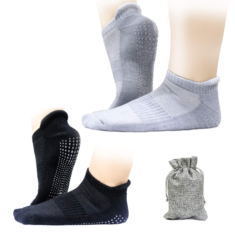 Finomo Calze da yoga Calze sportive con grip antiscivolo in gel di silice per pilates Fitness Dance Ballet per donna uomo