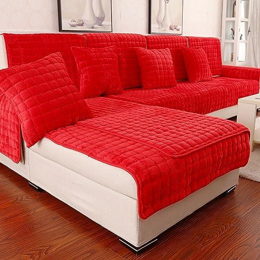 Cojín de sofá de estilo europeo de invierno rojo, toalla de ...