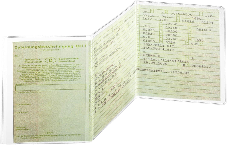 KFZ Schein Schutzhülle KFZ Schein Hülle Fahrzeugschein Hülle DREITEILIG ab 3,48