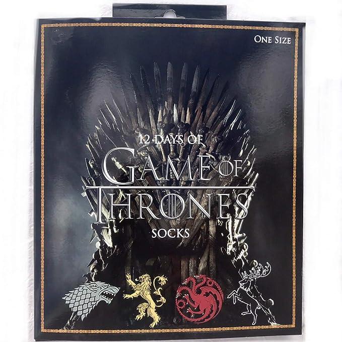 Project Set de regalo caja de 12 días de calcetines Game Of Thrones para hombres, socken cortos tobilleros y largos deportivos: Amazon.es: Ropa y accesorios