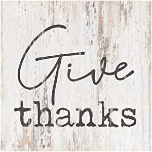 P. Graham Dunn Give Thanks Rustic Whitewash 3.5 x 3.5 Inch Pine Wood Tabletop Block Sign