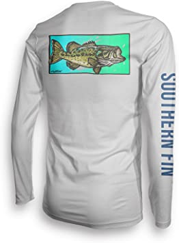 Performance – Camiseta de Pesca Sur Fin Apparel UPF 50 Dri Fit Mens Manga Larga: Amazon.es: Ropa y accesorios