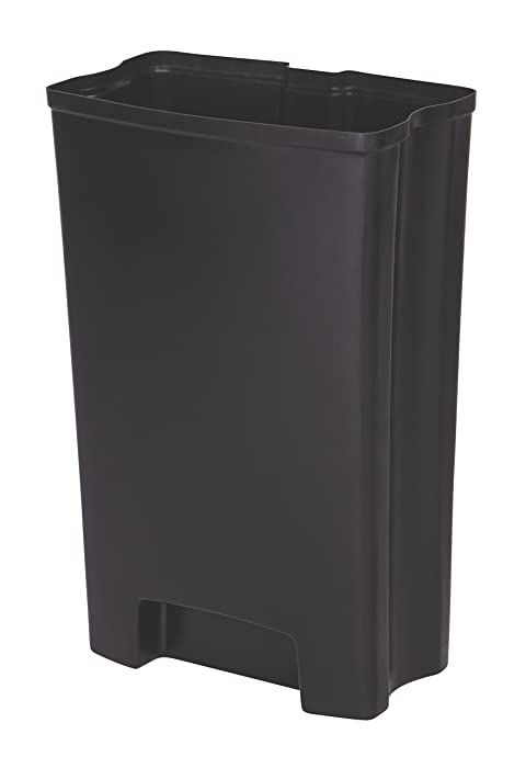 Rubbermaid Commercial Slim Jim Front Step-On Trash Can Rigid Liner, Plastic, 13 Gallon
