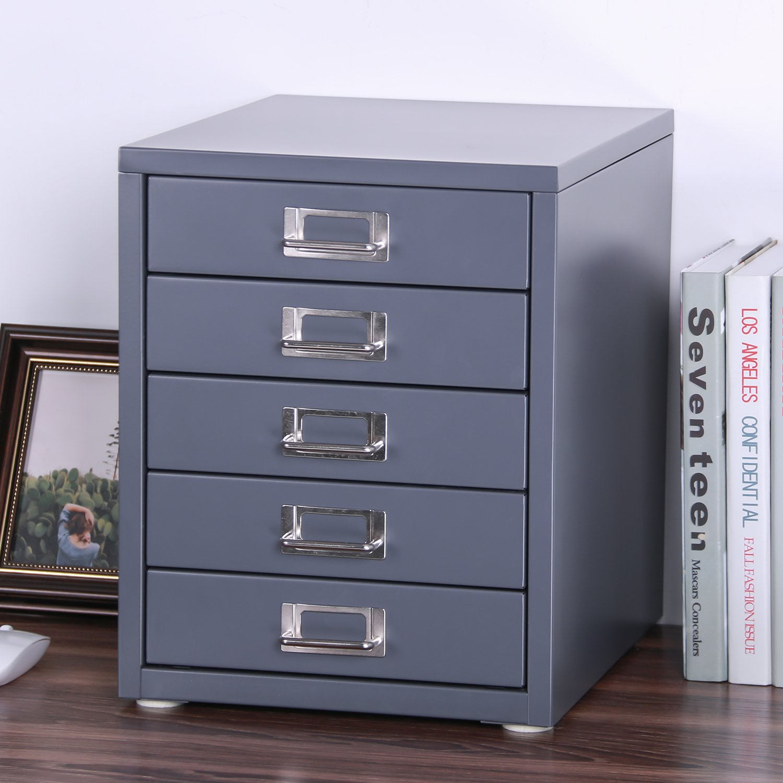 Z PLINRISE Office File Cabinets 5-Drawer - Size: 13.8
