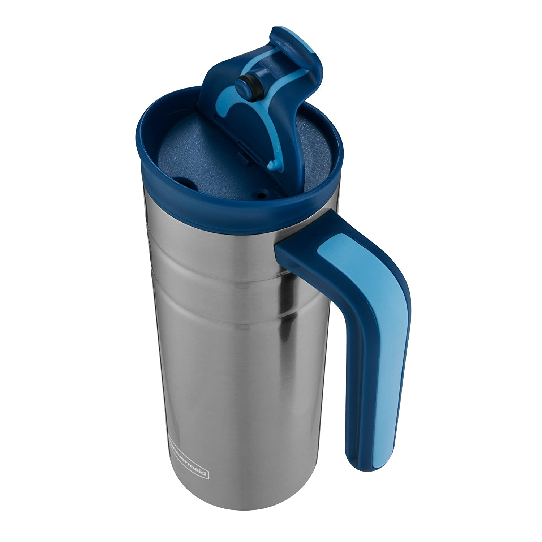 Rubbermaid Leak Proof Flip Lid Thermal Bottle with Handle 16 oz. Nautical