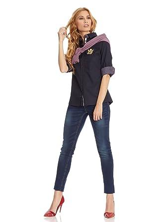 POLO CLUB Camisa Mujer 307 Azul Marino ES 36: Amazon.es: Ropa y ...
