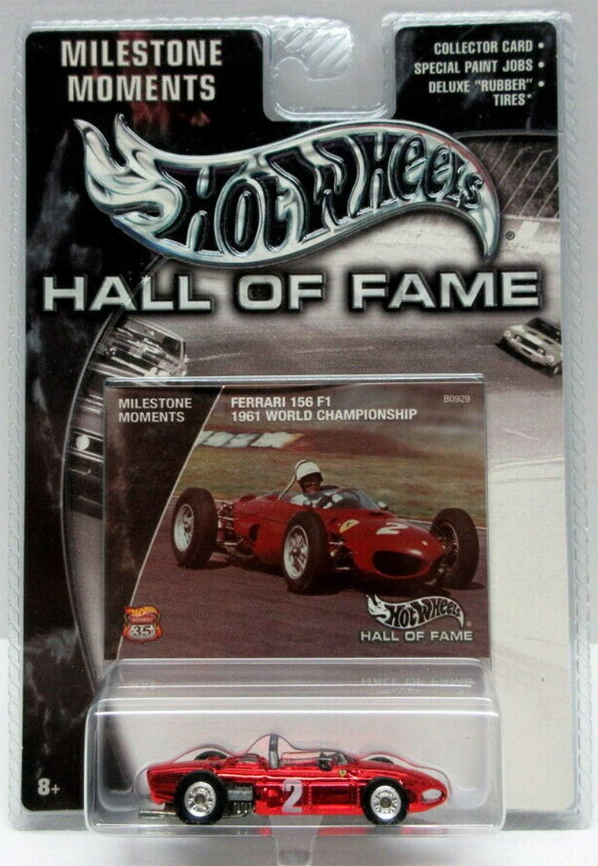 B000N8M68I Hot Wheels 2002 Hall Of Fame 1:64 Scale 35th Anniversary Red Ferrari 156 F1 Die Cast Car 719afb8XzoL.SL1500_