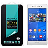 TechFilm Tempered Glass Screen Protector Premium Ballistic Glass Round Edge with Anti-Scratch, Anti-Fingerprint, Bubble Free for Sony Xperia Z3v - Retail Packaging