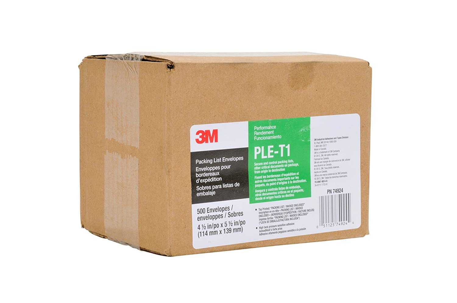 com m top print packing list envelope ple t in x com 3m top print packing list envelope ple t1 4 1 2 in x 5 1 2 in box of 100 packing slip pouch office products