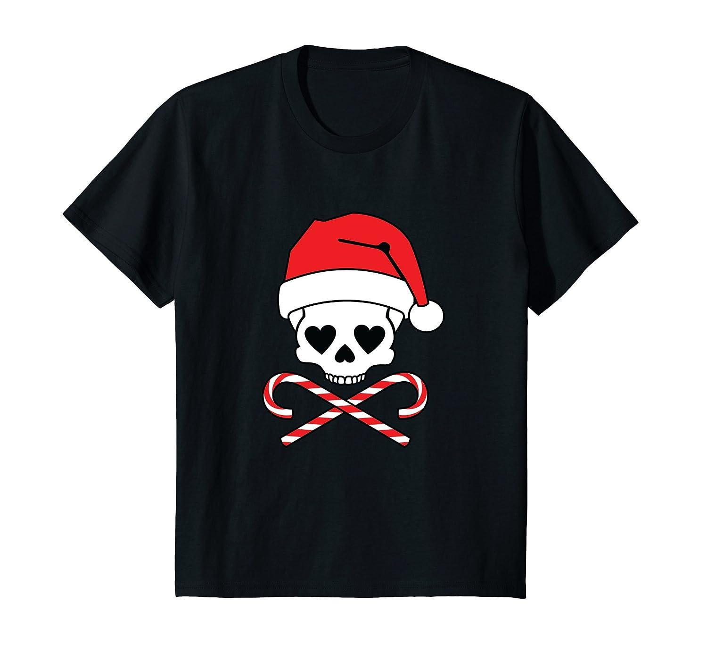 Christmas Girl Skull Santa Hat T-Shirt