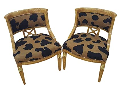 Super Amazon Com Directoire Pair Of Armchairs With Gilded Sides Pabps2019 Chair Design Images Pabps2019Com