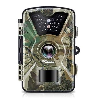 UKTUNU Cámara de Caza, Cámara de Vigilancia Infrarroja a Prueba de Agua Video 12MP 1080P