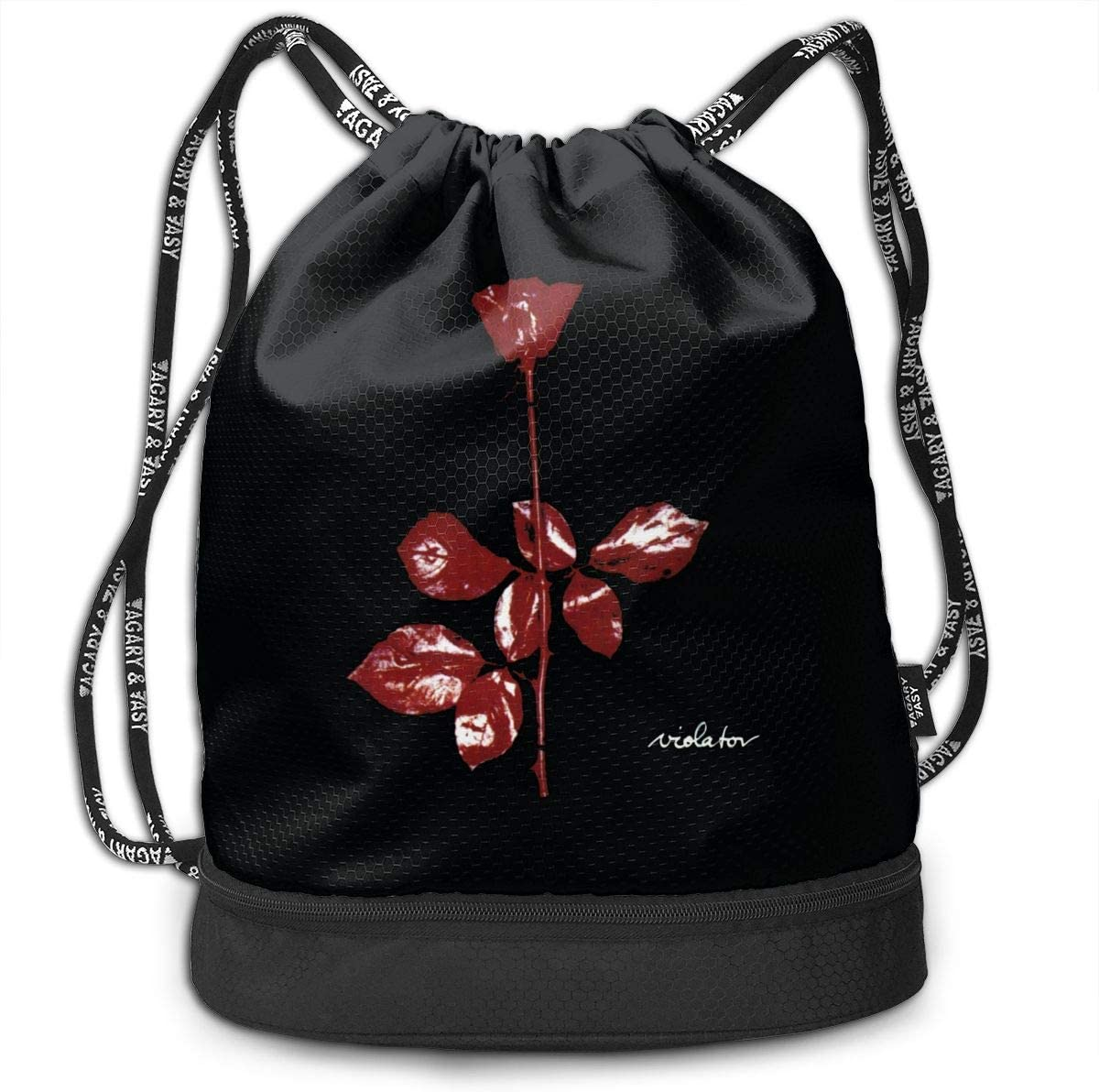 DIDhsswuz Depeche Mode Violator Unisex Drawstring Backpack Drawstring Bag Bundle Backpack Yoga Bag