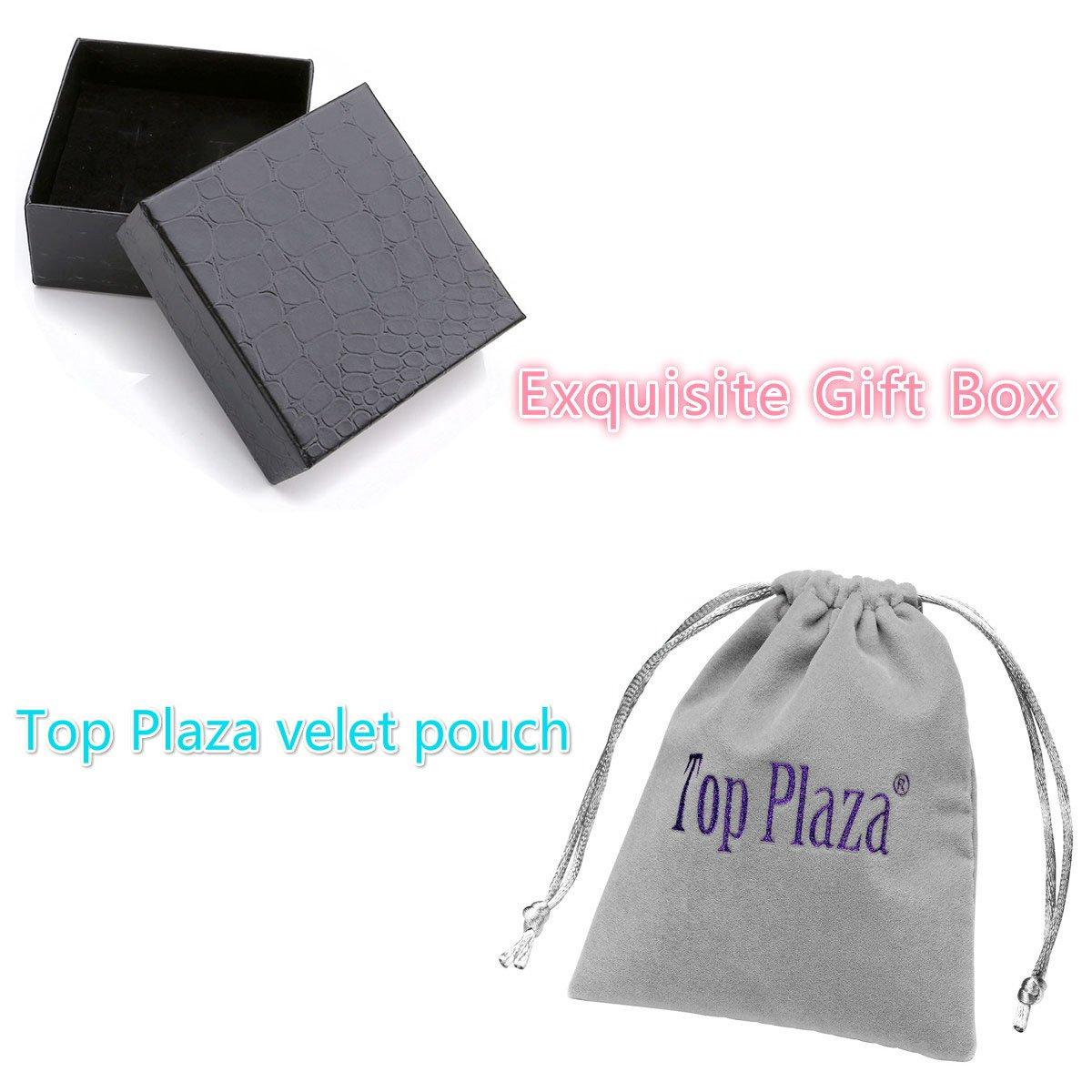 Top Plaza 7 Chakra Healing Balance Energy Crystal Gemstone Beads Bracelets Set, 8MM Beads (Pack of 4#2) by Top Plaza (Image #3)