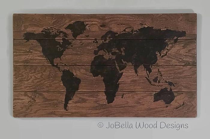 Phenomenal Amazon Com Multiplank World Map Wood Sign Painting Download Free Architecture Designs Itiscsunscenecom