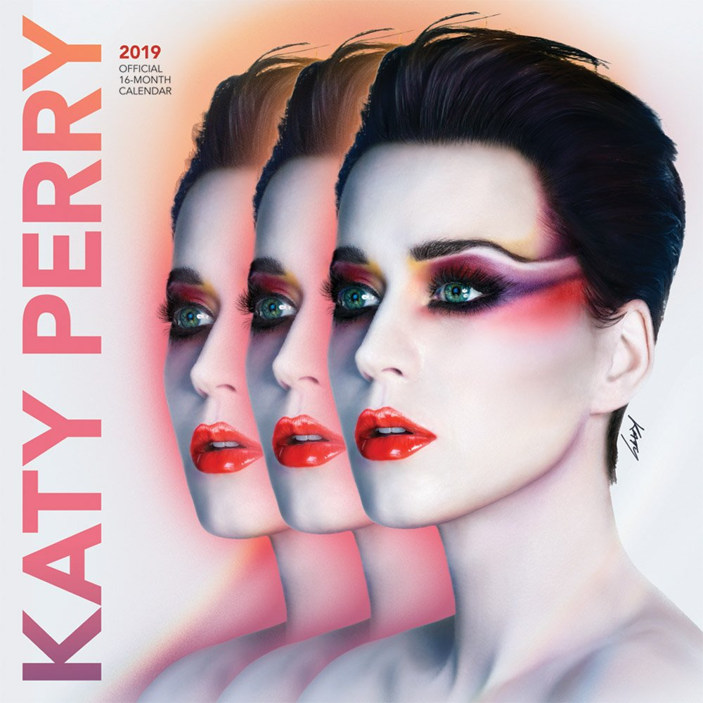Katy Perry 2019 12 x 12 Inch Monthly Square Wall Calendar by Merch Traffic, Singer Songwriter Music by BrownTrout Publishers