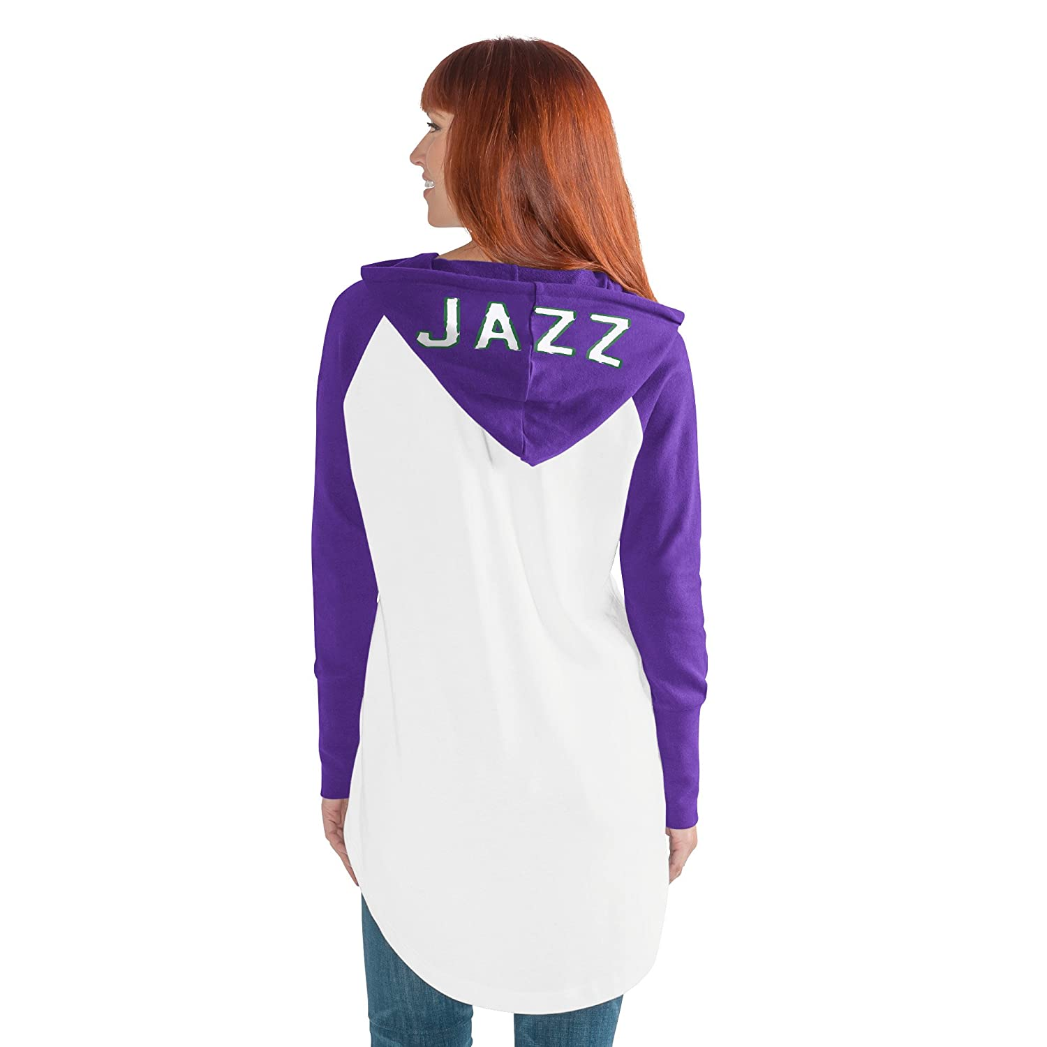 GIII For Her NBA New Orleans Jazz Womens All Division Hoody White//Purple X-Large