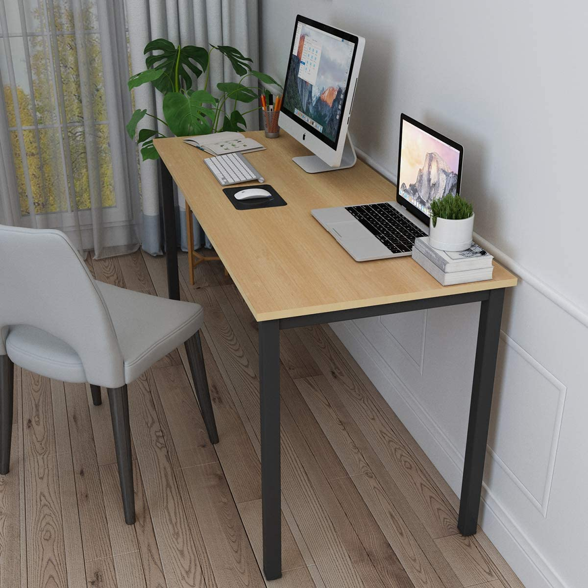 SogesHome Computer Desk 63 inches Large Desk Writing Desk with BIFMA Certification Workstation Office Desk,NSDUS-GCP2AC3-160OA