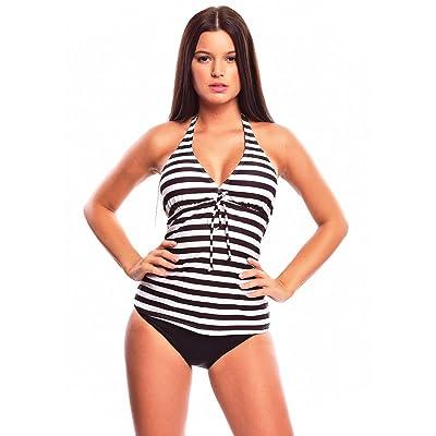 Élégant tankini push up de la marque octopus avec maillot de bain bikini est intégré à la jupe 1122AS f4338 -
