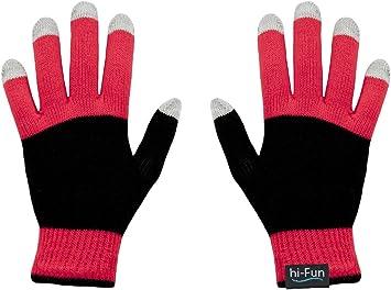 hi-Fun hi-Glove-Guantes de Piel para Pantalla táctil, teléfono móvil/ Smartphone, Tablet para Hombre, Color Rojo: Amazon.es: Electrónica