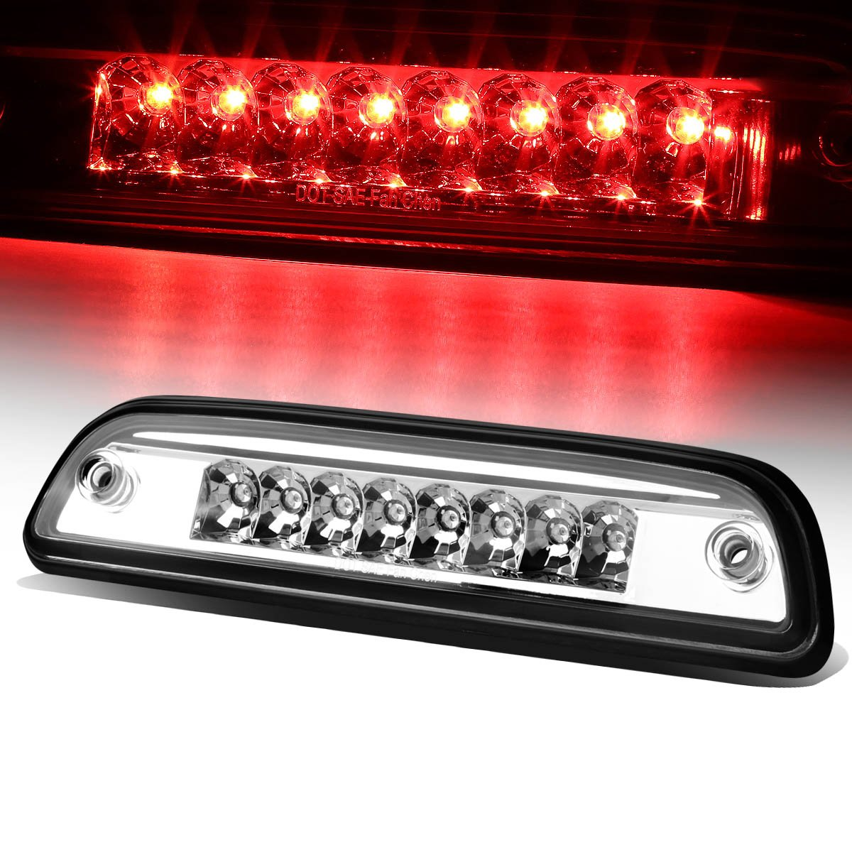 For Tacoma Single Row High Mount LED 3rd Brake Light (Smoke Lens) Auto Dynasty