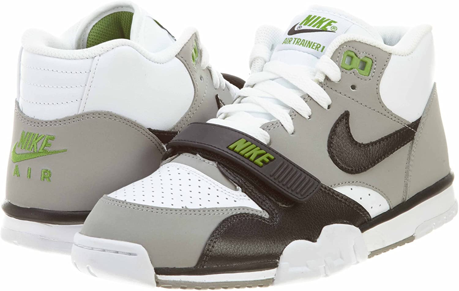 Dios Pila de Incorrecto  Amazon.com: Nike Air Trainer 1 Mid Premium blanco/neutral gris/Clorofila/Negro  317553 – 100, Blanco, 13 D(M) US: Shoes