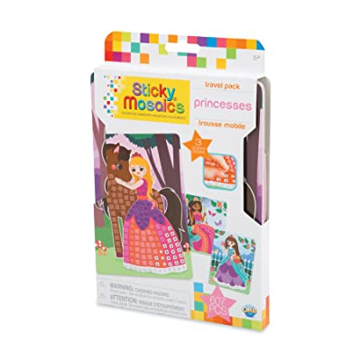 Orb 51020 Sticky Mosaics Travel Pack Princesses, Multi: Toys & Games