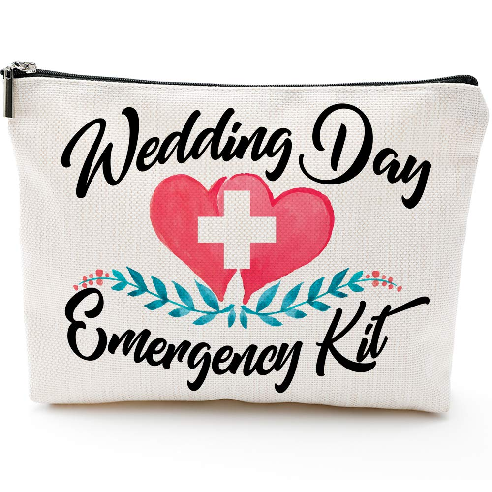 Wedding Day Emergency Kit Makeup Bag, Bridal Shower Gift, Wedding Survival Kit, Cosmetic Bag,Bride Gifts,Bridal shower gift
