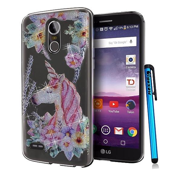 official photos 45cde 343bc LG Stylo 3 Case, LG Stylo 3 Plus Case, Qiyuxow LG Stylus 3 CLEAR Case Soft  Bright Glitter Sparkle Art Print Anti-Scratch TPU Bumper Case for LG Stylo  ...