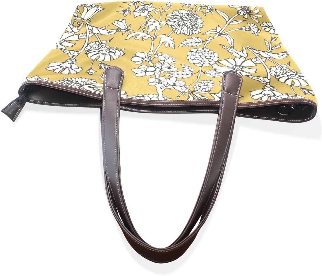 COOSUN Bolsa para Mujer de Las Flores Amarillas Pintura