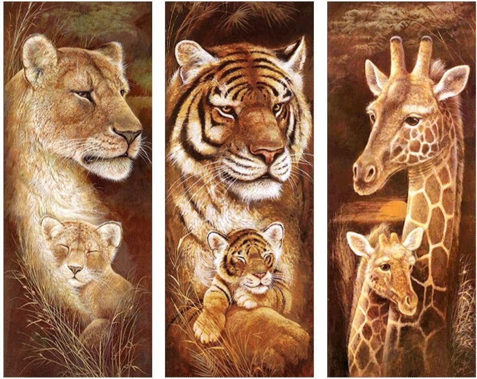 Animal Fierce Lion Diamond Painting Full drill Embroidery Cross Stitch Kit //3223