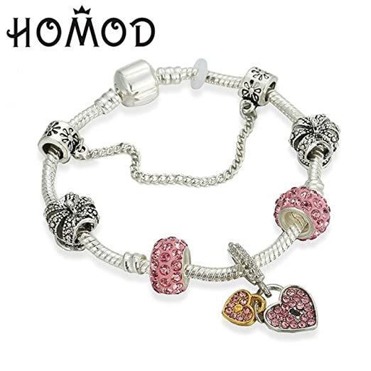 95bd0040f5d5c JEWH Vintage Charm Bracelet Couple   Key Beads Silver Color Snake Chain  Brand Bracelet Women DIY