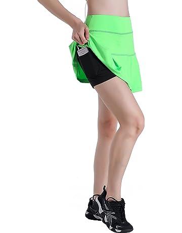 EAST HONG Women s Pocket Pleated Skort Athletic Mini Skirts Casual Skater  Skirt with Inner Shorts ef8da1ad1f