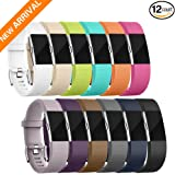 Fitbit charge 2 Bands,12Pack Replacement Accessory Bands for Fitbit Charge 2 Wristband(Small,Large,Different Color),Special Edition Sport Strap Bracelet