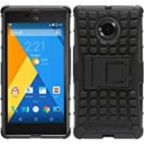DMG Dual Hybrid Hard Grip Rugged Kickstand Armor Case for YU Yuphoria YU5010A (Black)