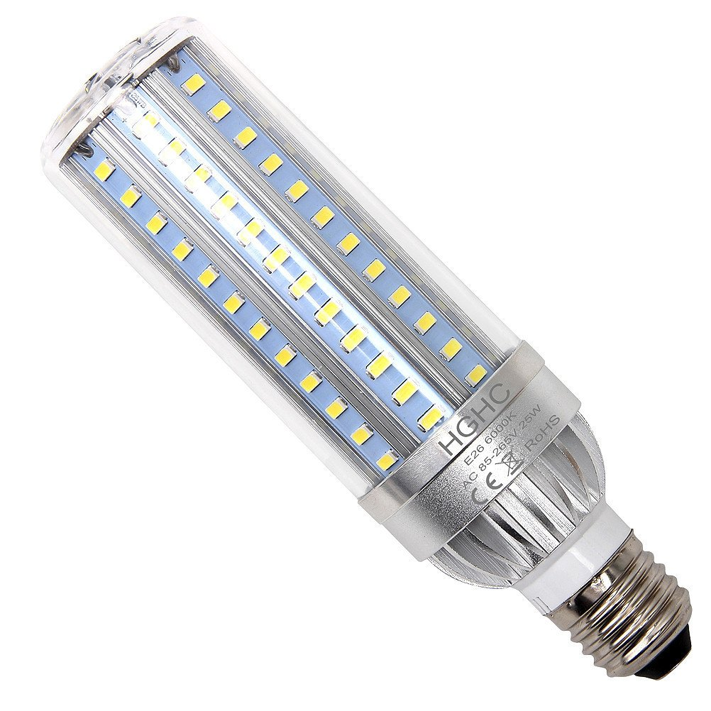 25W Super Bright Corn LED Light Bulbs (250W Equivalent) - E26/E27 Base 2900Lumens 6500K Daylight Cool White for Large Area Lighting - Home Porch Garage Warehouse Post Lamp Street Lights