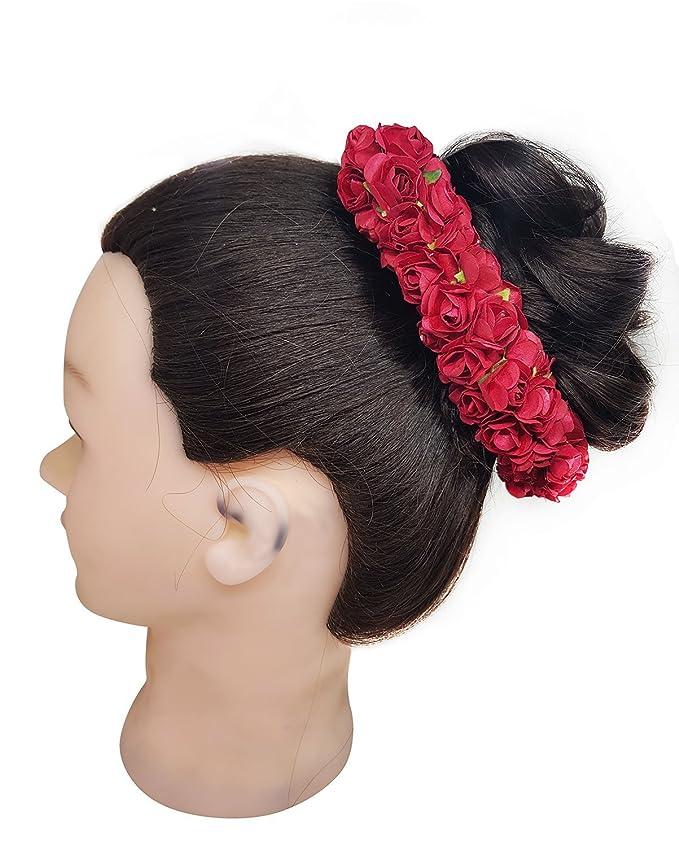 Artificial Hair Gajra Flower For Bridal Hair Hair Accessories For